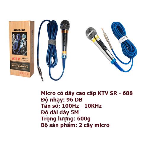 MICRO CÓ DÂY SN - 688 KTV