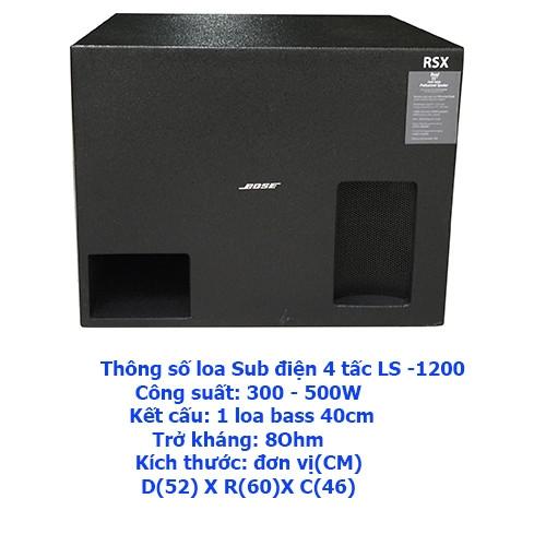 Loa Sub điện siêu trầm 4 tấc LS 1200 Karaoke